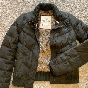 Hollister fur jacket size M.